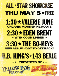 Free music showcase, Thu May 5th, B.B. King's Memphis